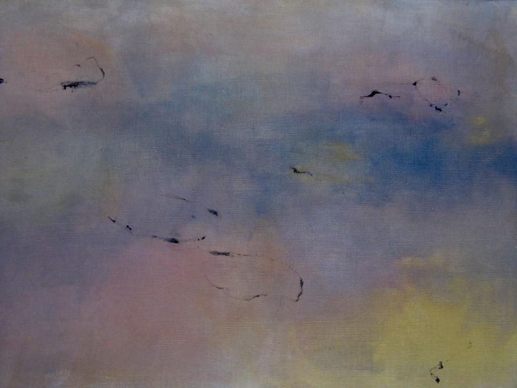 """Flüchtige Ruhe"" I,  Acryl auf Leinen, 2012, 70x100cm"
