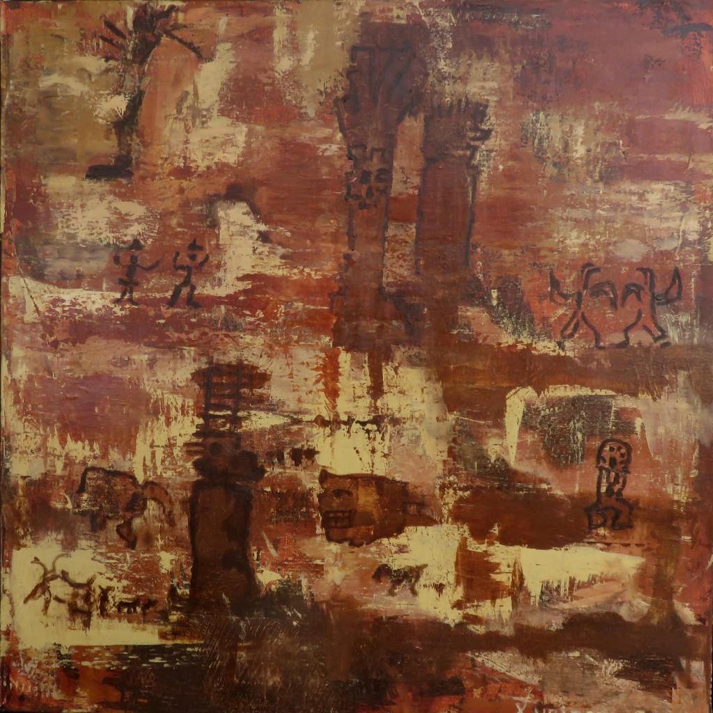 """""""Reminiszenzen"""" Acryl auf Leinen, 1997, 80x80"""