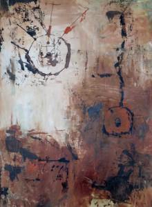 """Piktogramme"", Acryl auf Leinwand, 1998, 70x60cm"