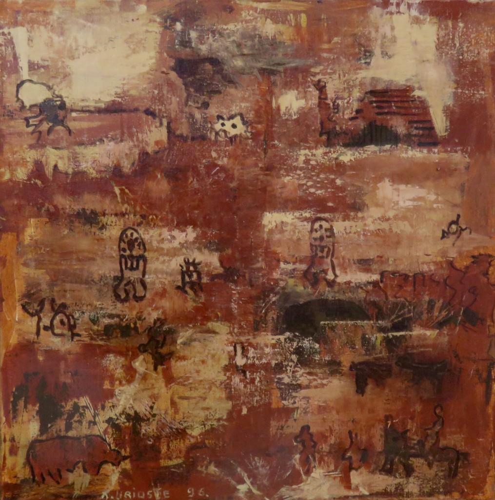 """""""Reminiszenzen"""" Acryl auf Leinen, 1996, 80x80cm"""